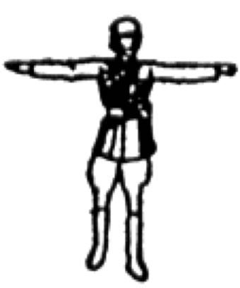 deux bras ecartes