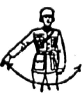 balancement bras devant corps