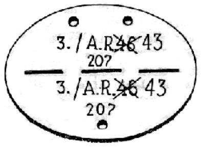 Exemple plaques d'identité