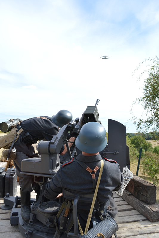 Reconstitution historique Flak 38 Luftwaffe