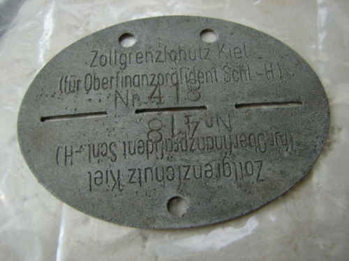 plaque identité allemande